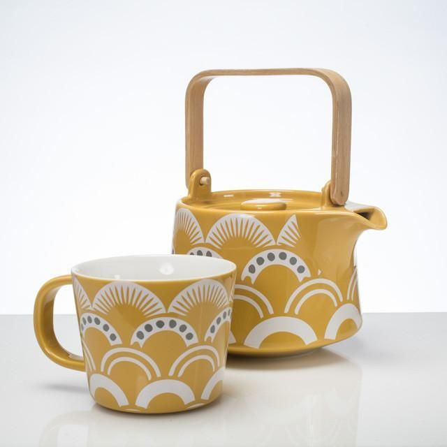 Tea Cup and Saucer - Vintage in Amber