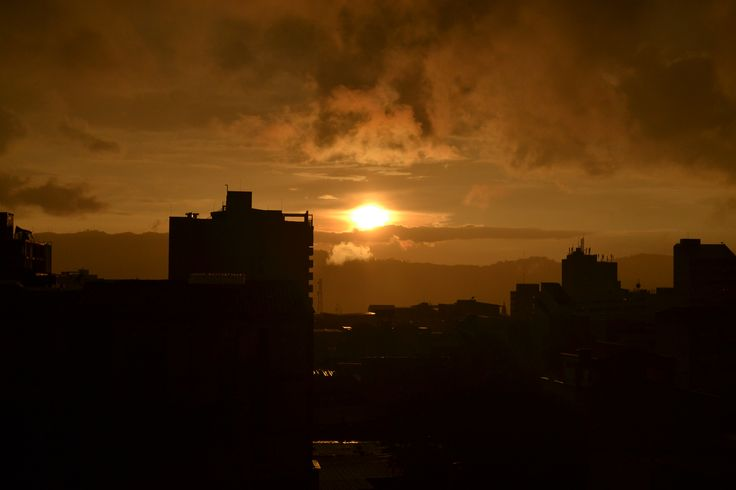 Sunset in Bucaramanga - Santander.