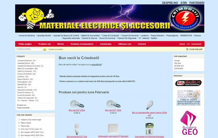Magazin online electrice si accesorii, materiale uz casnic, amenajari si constructii