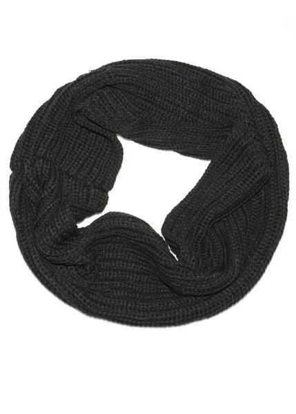 Scarf Black Chunky Knit Infinity Scarf