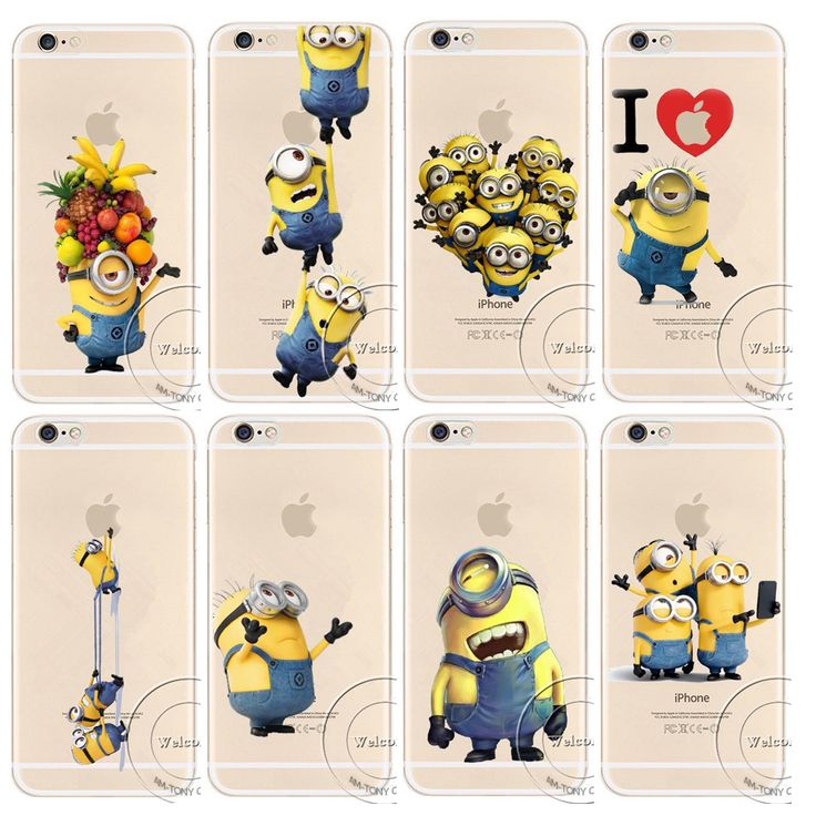 Minions play with apple iphone Case Funny Cover for iPhone 4/4s 5/5s 5c 66s plus