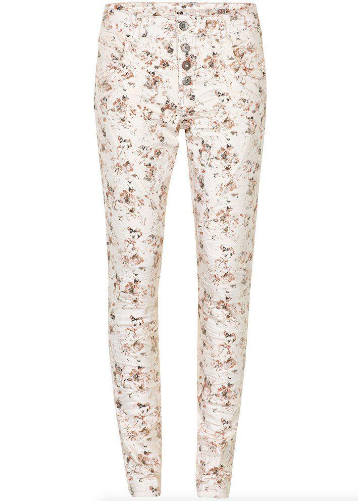 Bukser print 10601698 Cream Daniela Pants Bailey Fit - pink tint