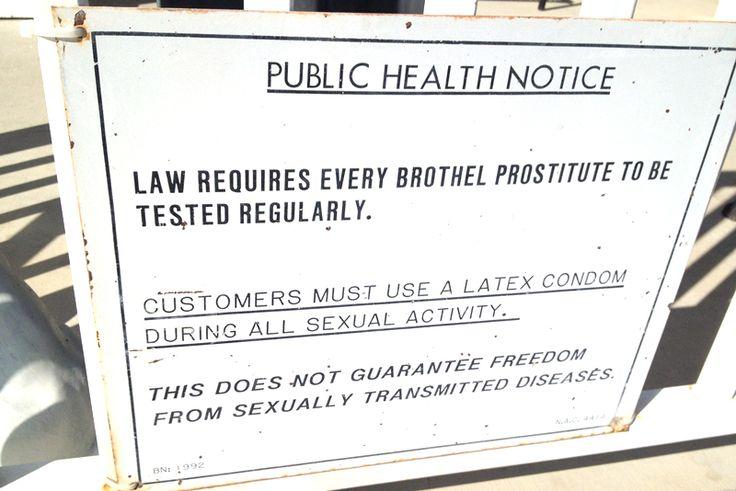 Sign outside Nevada's Moonlite BunnyRanch brothel.