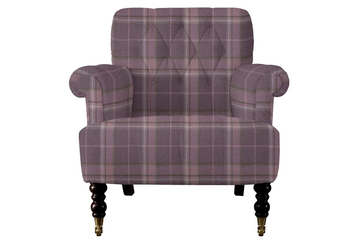 Laura ashley alberton upholstered chair highland check grape are you sitting comfortably - Laura ashley office chair ...