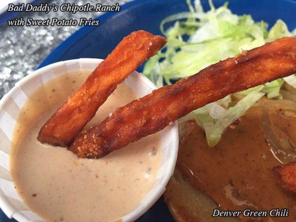 Sweet Potato Fries with Chipotle Ranch Dressing at Bad Daddy's Burger Bar