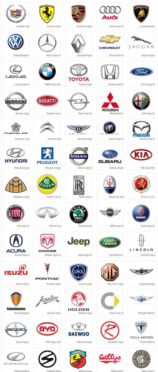 The Best Car Logos Ideas On Pinterest Logos For Cars Road - Car signs and namescar signs vector free download
