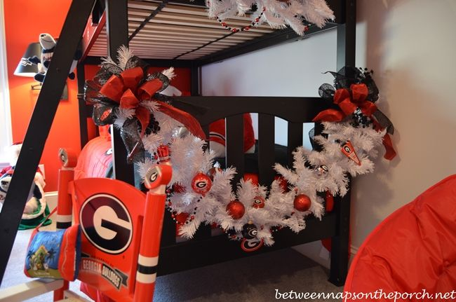 University of GA Themed Bed Room