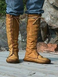 Make Deerskin Moccasin Boots