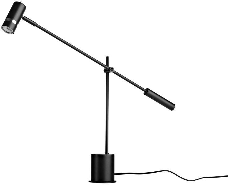 Desk lamp in black metal 58H