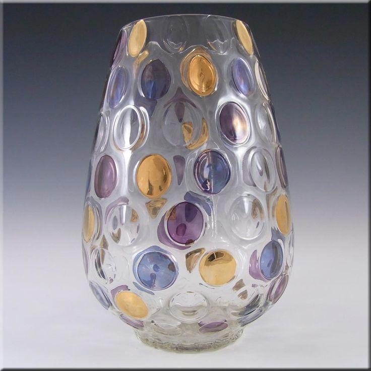Borske Sklo 1950's Glass 'Nemo' Vase - Max Kannegiesser - £29.99