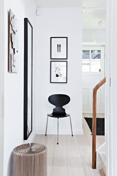 Via Nordic Design | Black and White | Hallway | Arne Jacobsen Chair