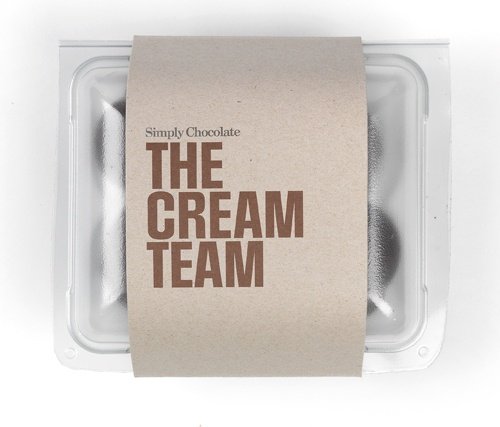 @simplychocolate THE CREAM TEAM #CreamPuffs #Chocolate #Packaging #Design #SimplyChocolate #FoamKisses