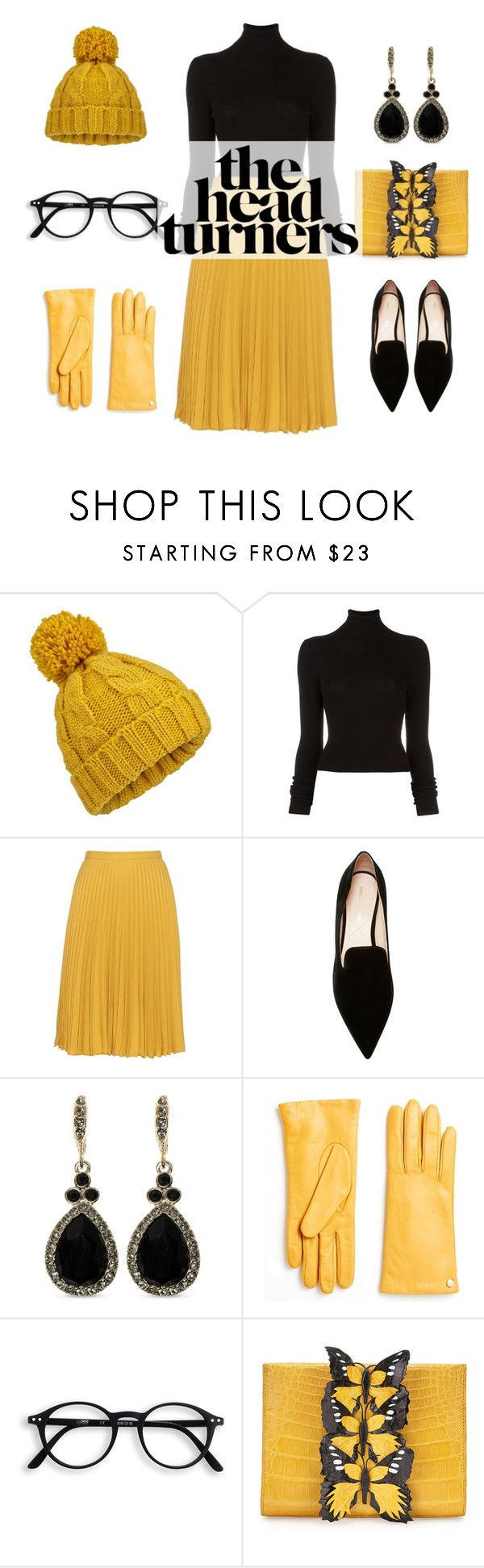 """The Girl in the Yellow Dress"" by julietteaimee ❤ liked on Polyvore featuring Miss Selfridge, BLK DNM, Weekend Max Mara, Nicholas Kirkwood, Givenchy, Furla and Nancy Gonzalez"