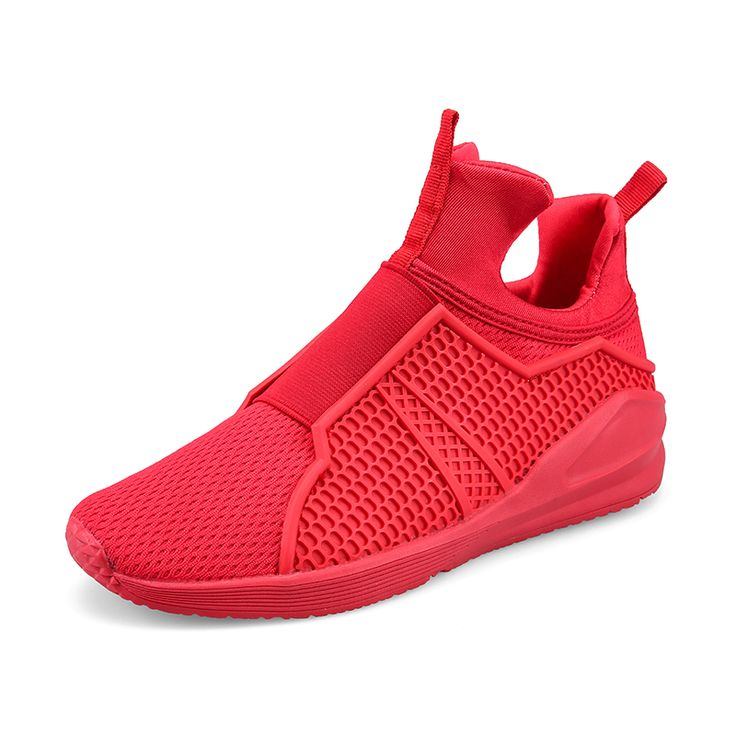 High Quality Slip-On Men Shoes Tenis Mens High Tops Shoes Sales Summer Casual Shoes Men Basket Shoe Breathable Red Black White