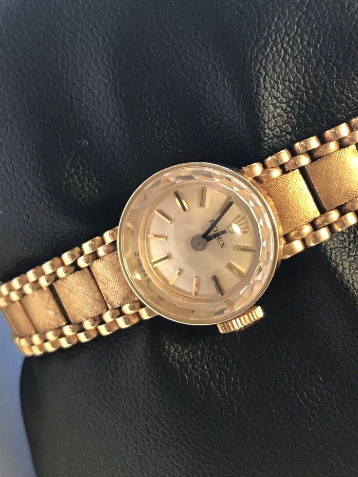#Forsale Nice Clean Vintage #Rolex 14k Yg Womens Wrist Watch - Price @$720.00