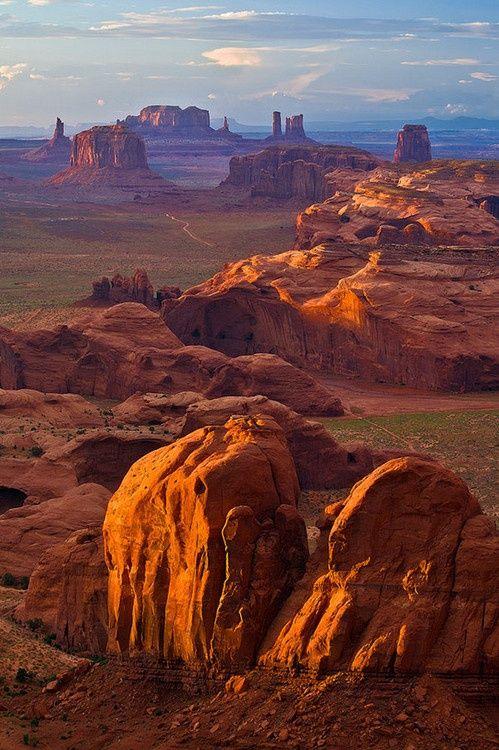 Golden light on Monument Valley, Arizona - gorgeous!