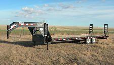 PJ 23' + 3' Gooseneck Flatbed Equipment Trailer Truck Car Hay Hauler Farm Ranch