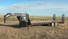 PJ 23' + 3' Gooseneck Flatbed Equipment Trailer Truck Car Hay Hauler Farm Ranch