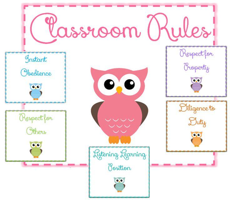 Classroom Owl Ideas : Owl themed classroom rules