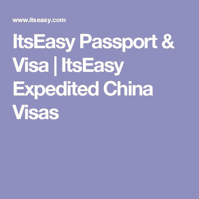 ItsEasy Passport & Visa | ItsEasy Expedited China Visas