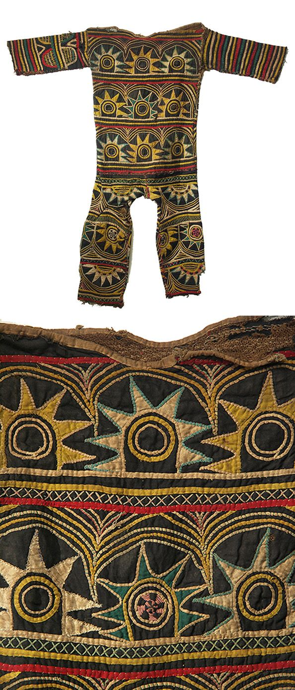 Africa   Dance costume from the Igbo people of Nigeria   It is intricately appliqued with the rising sun motif.