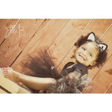 Black cat tutu costume - kids