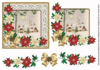 I have designed this sheet as a decoupage sheet, use 3D foam or silicone glue to build the layers up into a gorgeous vintage lace Christmas card front. The base image is 5.5inches square and builds up using classic decoupage. Ideal for anyone in the holiday season.