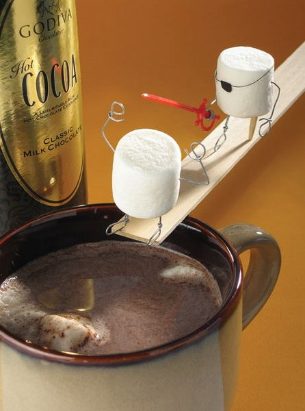 Bent Objetcs by Terry Border.: Stuff, Food, Funny, Plank, Walk, Marshmallows, Bent Object, Terry Border, Pirate