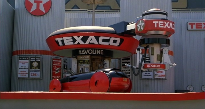 """""""Welcome to Texaco. You can trust your car with the system with the star. Checking oil, checking landing gear... """" - Back to the Future II"""