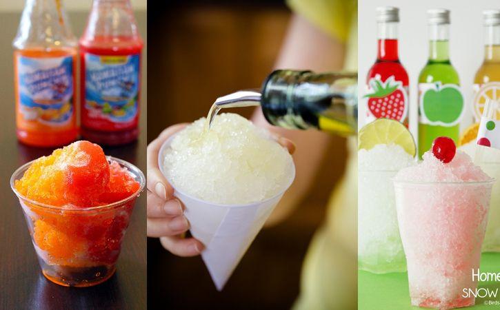 Idées de recettes pour snow cones américains