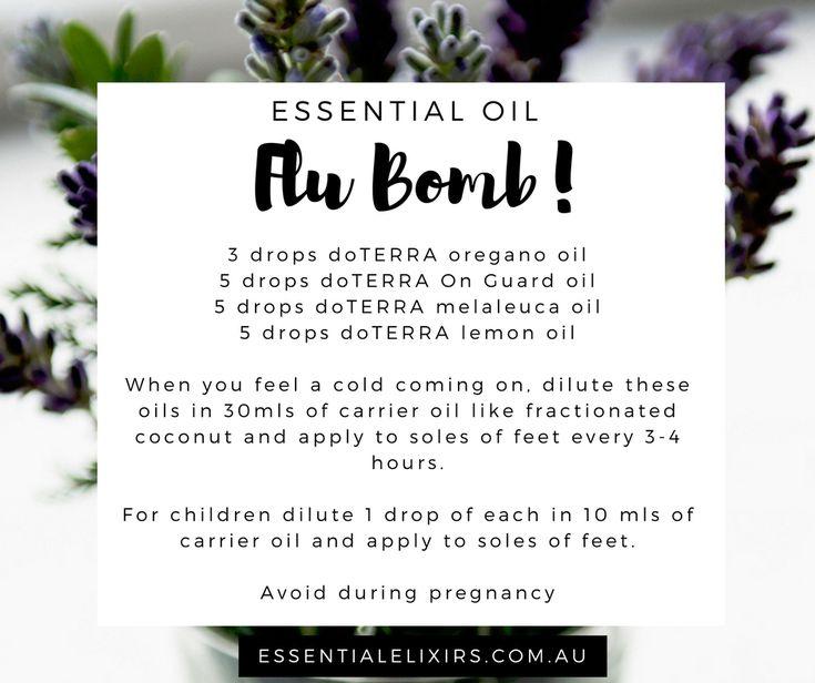 doTERRA essential oil flu bomb