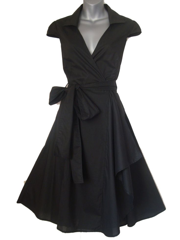 BLACK SWING/PINUP ROCKABILLY DRESS - Look For The Stars