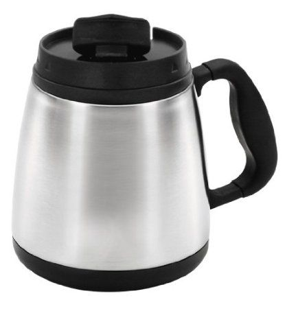 Thermoserv Coffee Travel 20 Ounce Brushed Stainless Steel Wide Body Mug