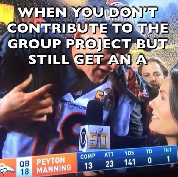 The group still loves you Peyton. You got that A #superbowl50 #broncos #panthers #nfl #football #fantasyfootball