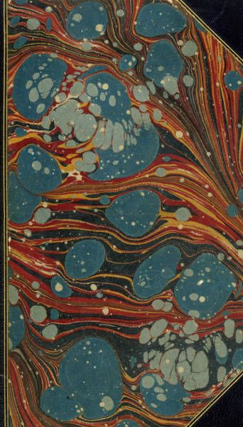 Vintage 19th c. marbled paper, Dahlia pattern/content.lib.washington.edu  content.lib.washington.edu