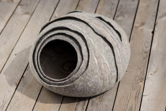 Lit/chat grotte/chat nid de frelons/maison/feutré chat grotte (pad avec cadeau)