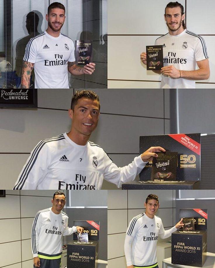 """""""#RealMadrid  Esta mañana, los jugadores del Real Madrid votaron por el mundo XI de FIFPRO para 2015. - Quién crees estará en la alineación de este año?…"""""""