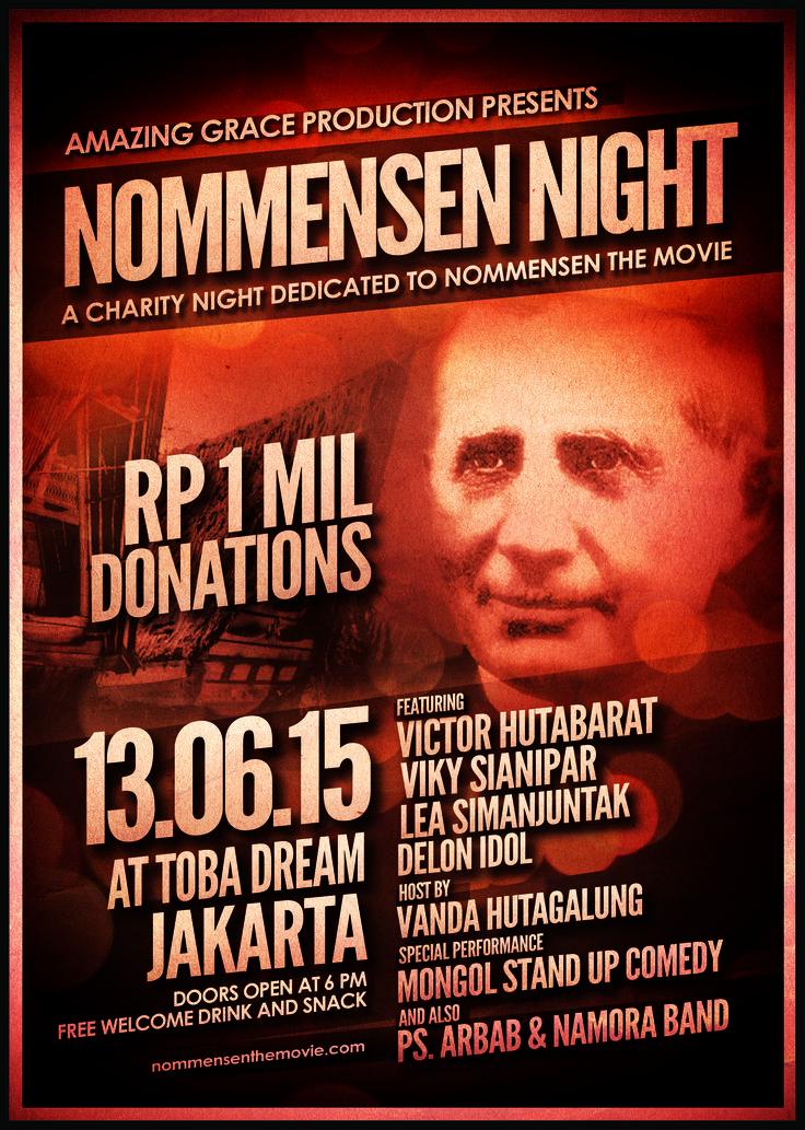 Nommensen NIght - A Charity Night dedicated to Nommensen The Movie