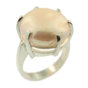Sterling Silver & Freshwater Pearl Ring, handmade by Sam Drummond at Cameron Jewellery. NZD$295.00