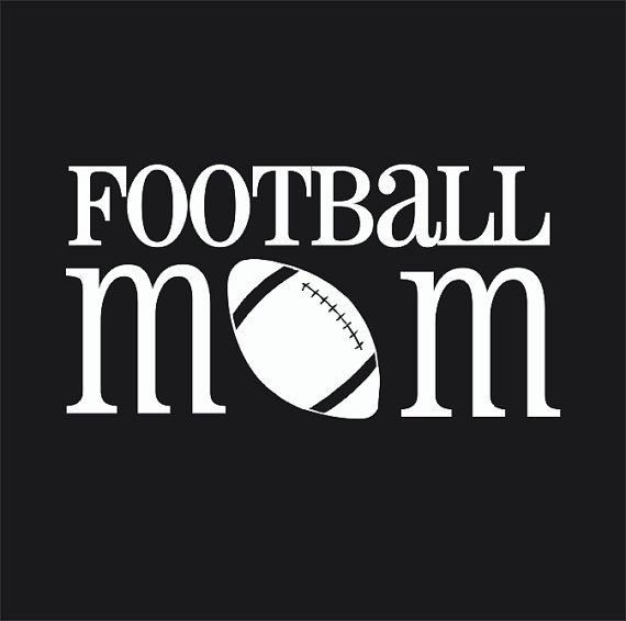 Football mom car window decal vinyl decal by customvinylbybridge 9 00