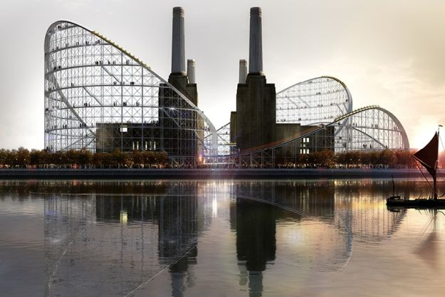 London's Battersea Power Station has been reimagined as a museum with a ride around the building //CS