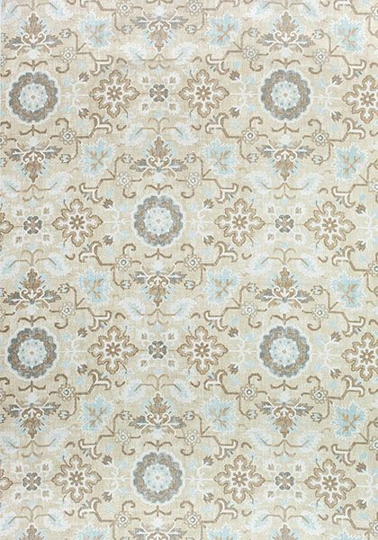 Mahal #print #fabric in #neutral from the Caravan collection. #Thibaut