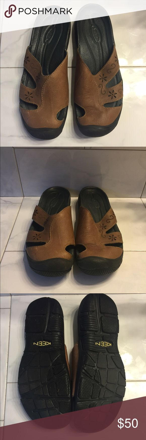 Keen Women's clogs NWOT brown leather Sz 9 Keen clogs Sz 9 brown Leather slip ons and GO Keen Shoes Mules & Clogs