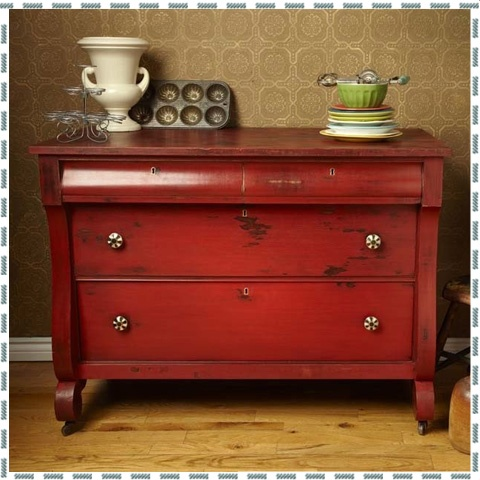 Red Distressed Furniture.