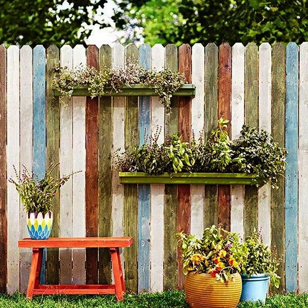 Garden Fence Decoration Ideas cartoon painting garden fence decor 20 backyard fence decoration makeover diy ideas 40 Creative Garden Fence Decoration Ideas