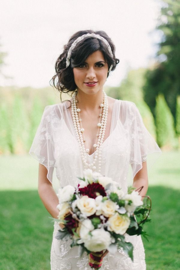 Dresses and headwear!!! Look at them all!  46 Great Gatsby Inspired Wedding Dresses and Accessories
