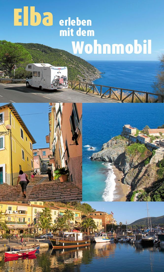 Die Insel #Elba schrumpft die Toskana quasi auf Taschenformat. Aber braucht man wirklich mehr, um für ein, zwei Urlaubswochen glücklich zu sein? Eine Wohnmobiltour über die Insel. #Italien #Wohnmobil