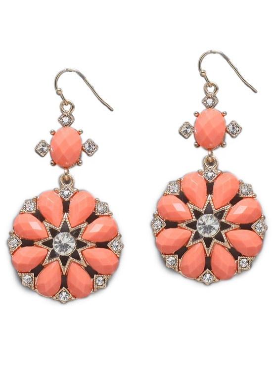 Coral Radial Earrings