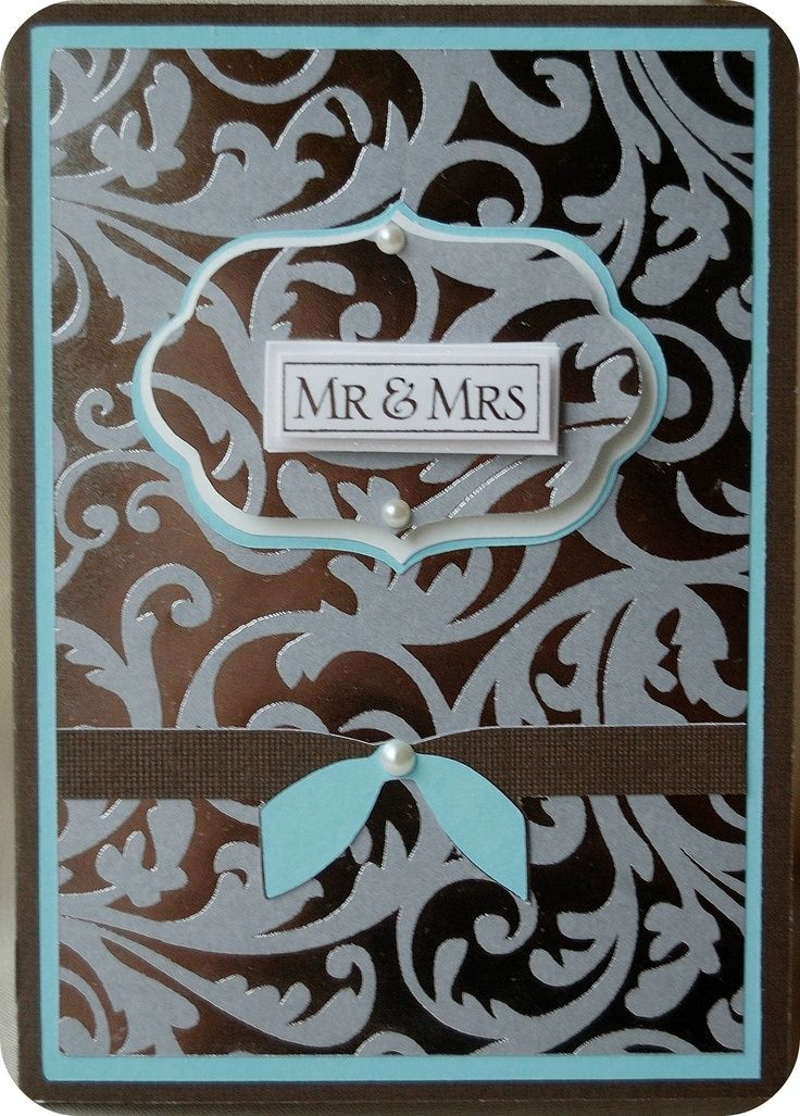 images of cricut wedding invitations -  It looks like the Mr & Mrs is a cut out and maybe it is glued to the inside page, maybe ... maybe not ... idk
