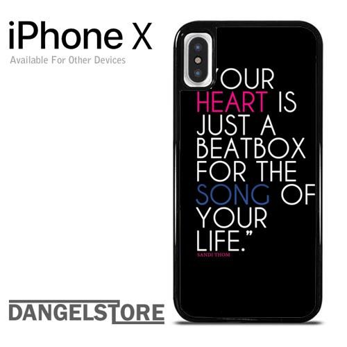 heart beat Quote For iPhone X